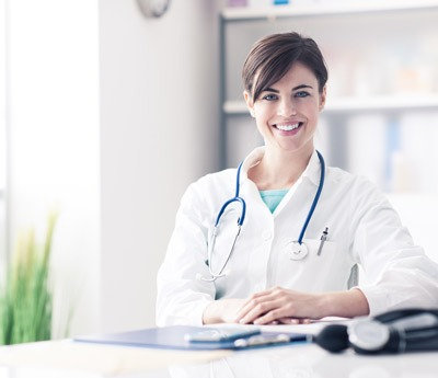 Woman Doctor with stethescope